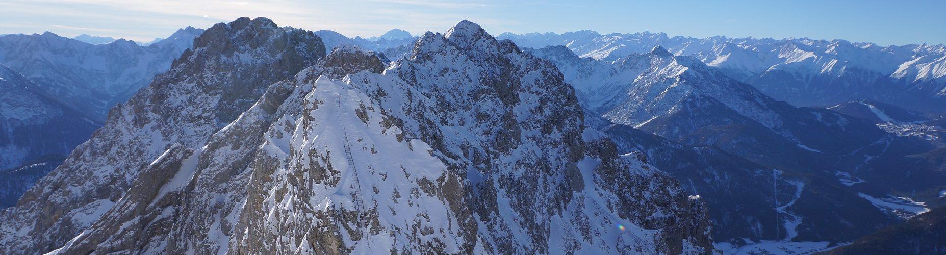 Winterbegehung Mittenwalder Klettersteig